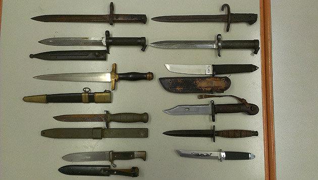 Wiener Polizei hebt illegales Waffenlager aus (Bild: Polizei)