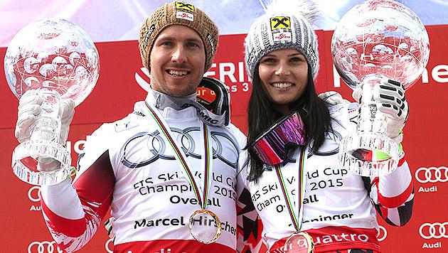 Anna Fenninger triumphiert erneut im Gesamtweltcup (Bild: AP)