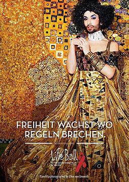 Conchita Wurst ziert die diesjährigen Life-Ball-Plakate. (Bild: Life Ball/© Ellen von Unwerth)