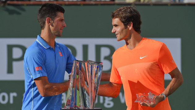 Djokovic besiegte Federer im Finale in 3 Sätzen (Bild: AP)
