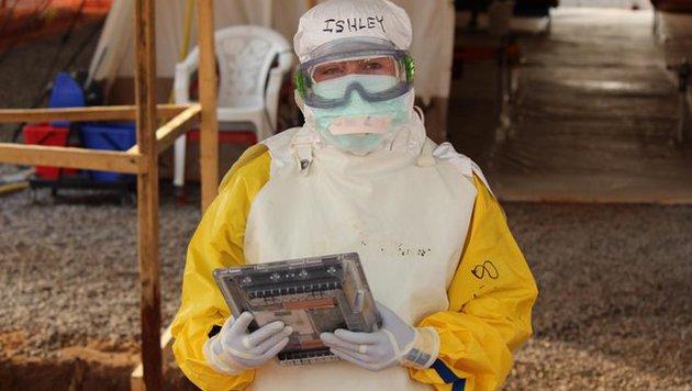 """""""Ebolasicheres"""" Tablet soll Arbeit erleichtern (Bild: msf.org)"""