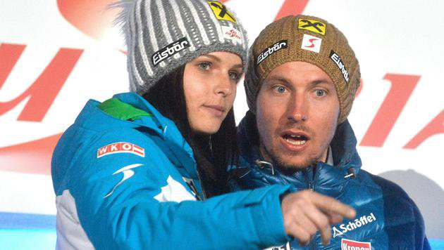 Anna Fenninger und Marcel Hirscher (Bild: APA/HERBERT PFARRHOFER)