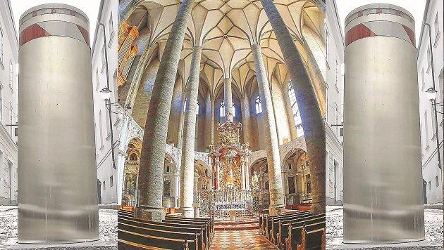 Der Franziskanerchor und das erzbischöfliche Palais fürchten um ihre Ausnahmegenehmigungen. (Bild: Markus Tschepp)