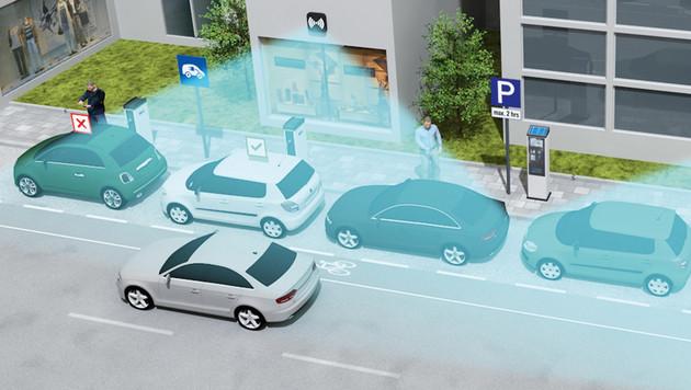 Smarte Straßenlaterne soll Falschparker erkennen (Bild: Siemens AG)