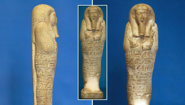 Das Kunsthistorische Museum in Wien gab die Statuette an Ägypten zurück. (Bild: APA/Landespolizeidirektion Tirol)