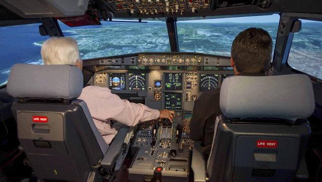 Nun Vier-Augen-Prinzip bei heimischen Airlines (Bild: APA/EPA/JASON CALSTON/AIRBUS HANDOUT)
