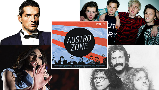 Austrozone stellt heimische Musik ins Rampenlicht (Bild: Universal Music, AFP, Niko Ostermann, Sony Music)