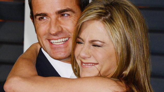 Jennifer Aniston mit ihrem Verlobten Justin Theroux (Bild: Viennareport)