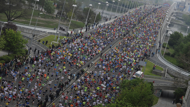 Teilnehmer-Rekord für den Vienna City Marathon (Bild: APA/HERBERT PFARRHOFER)