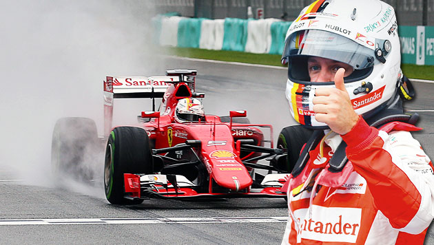 Ferrari-Sensation! Nur Hamilton besser als Vettel (Bild: GEPA, APA/EPA/DIEGO AZUBEL)