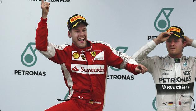 """Vettel: """"Da wurden viele Kindheitsträume wahr!"""" (Bild: AP)"""