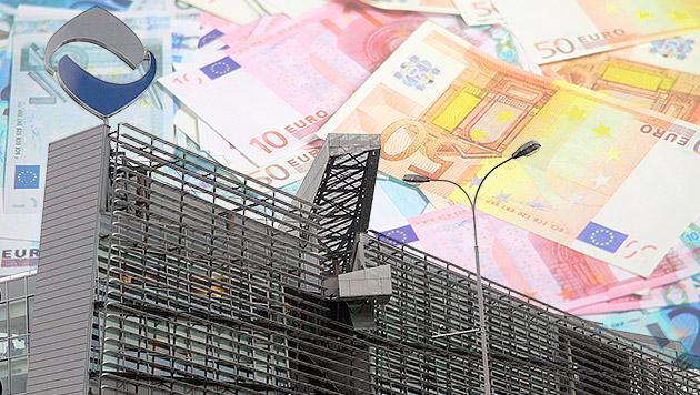 Heta muss Ex-Italien-Tochter vor Pleite retten (Bild: APA/EPA/GERT EGGENBERGER, thinkstockphotos.de, krone.at-Grafik)