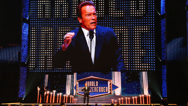 "Schwarzenegger jetzt in Wrestling-""Hall of Fame"" (Bild: AP Images for WWE)"