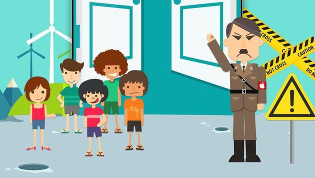 Smartphone-Werbung vergleicht Apple mit Hitler (Bild: weibo.com)