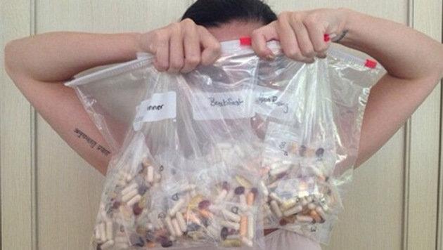 Ist das etwa die Tagesration von Katy Perrys Vitaminpillen? (Bild: Viennareport)
