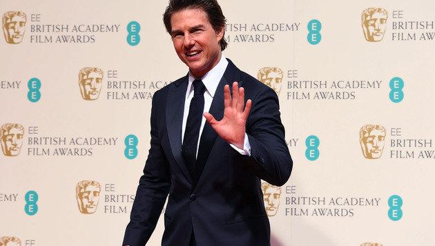 Tom Cruise hält sein Gesicht mit Nachtigall-Kot faltenfrei. (Bild: Jonathan Short/Invision/AP)