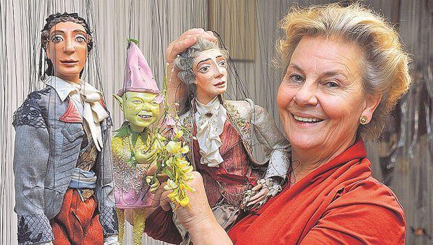 Barbara Heuberger vom Salzburger Marionettentheater freut sich auf die Eröffnung. (Bild: Wolfgang Weber)