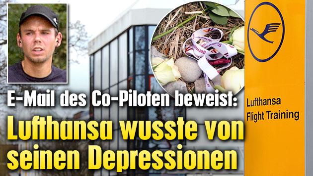 Lufthansa wusste von Depressionen des Co-Piloten (Bild: APA)