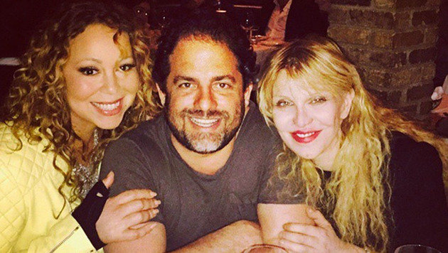 Mariah Carey und Brett Ratner mit Courtney Love (Bild: www.viennareport.at)