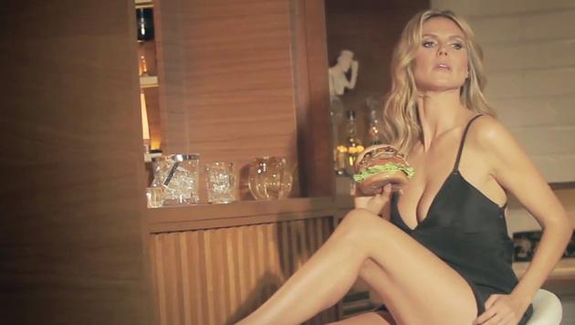 Auch Heidi Klum brachte die Männer als Burger-Babe um den Verstand. (Bild: Viennareport)