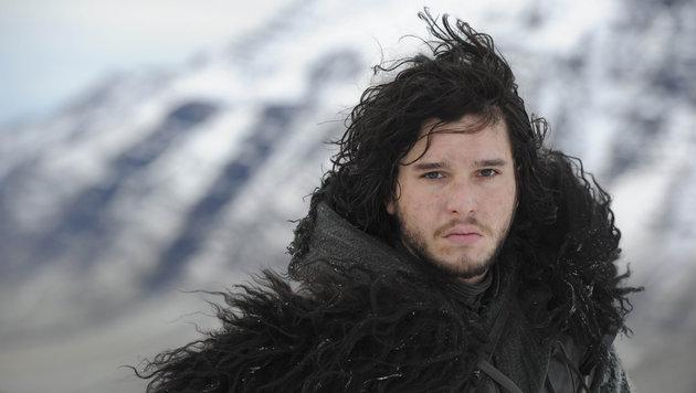 """Kit Harington jenseits der Mauer in einer Szene aus """"Game of Thrones"""". (Bild: Viennareport)"""
