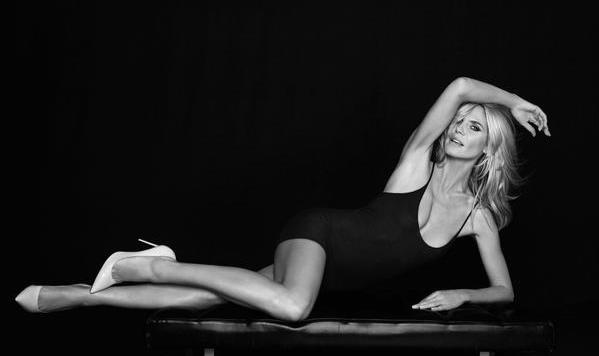 Heidi Klums linkes Bein ist weniger wert als das rechte. Schuld daran ist eine Narbe am Knie. (Bild: Viennareport)
