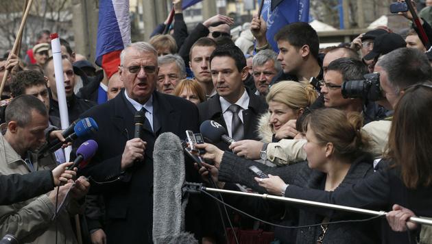 Das Urteil gegen Vojislav Seselj soll noch im März gefällt werden. (Bild: AP)