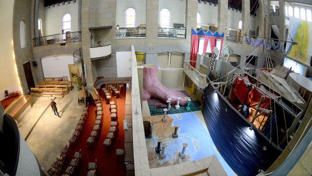 Auf 600 Quadratmetern erstreckt sich der Bibel-Erlebnisparcous. (Bild: APA/BARBARA GINDL)
