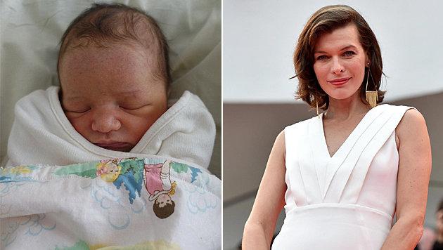 Milla Jovovich ist zum zweiten Mal Mama geworden. (Bild: instagram.com/millajovovich, APA/EPA/ETTORE FERRARI)