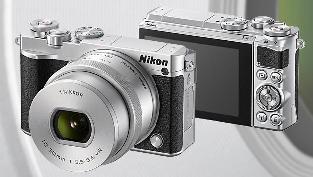 Nikon 1 J5: 4K-Systemkamera mit Selfie-Display (Bild: Nikon, krone.at-Grafik)