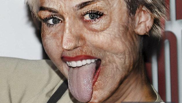 Miley Cyrus mit Falten würde so aussehen. (Bild: Viennareport)
