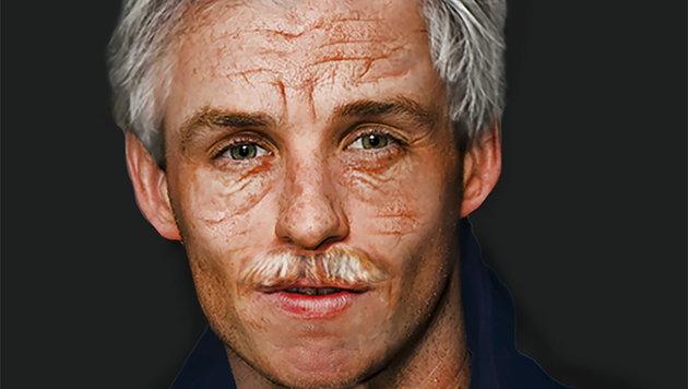 In sechzig Jahren könnte Schauspieler Eddie Redmayne so aussehen. (Bild: www.viennareport.at)