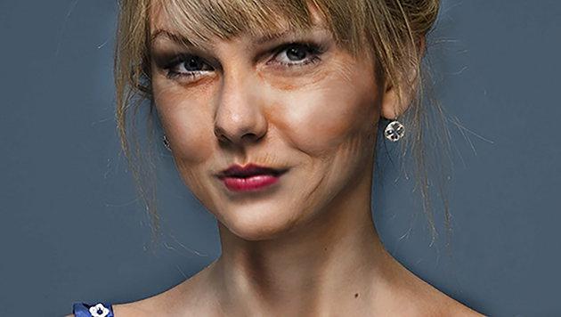 Lässt man sie mit dem Photoshop altern, sieht Taylor Swift so aus. (Bild: Viennareport)