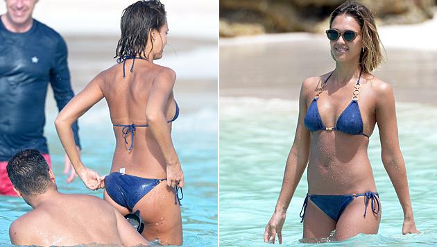 Jessica Alba zeigt ihren sexy Bikini-Body. (Bild: Viennareport)