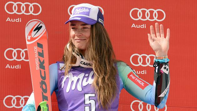 Rücktritt! Tina Maze hängt Skier an den Nagel (Bild: APA/EPA/PATRICK SEEGER)