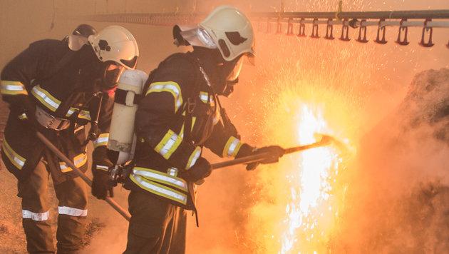 Einstreu und auch Futter wurden bei den Bränden vernichtet. (Bild: fotokerschi e.U. Werner Kerschbaummayr, Weilling 12, 4490 St. Fl)