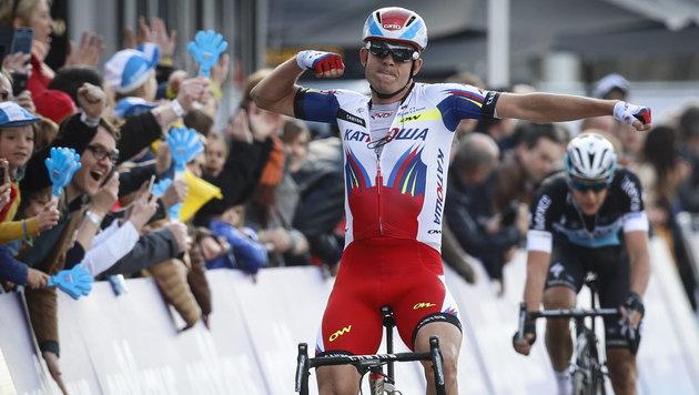 Kristoff! 1. Norweger-Sieg bei Flandern-Rundfahrt (Bild: APA/EPA/OLIVIER HOSLET)