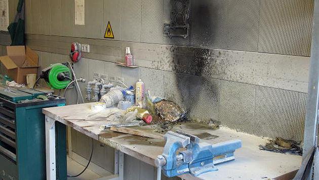 Ölgetränkter Lappen löste Brand in Grazer FH aus (Bild: Berufsfeuerwehr Graz)