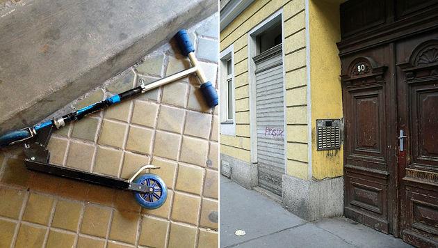 Mit diesem Kinderscooter wurde der 32-Jährige verprügelt. (Bild: LPD Wien, Peter Tomschi)