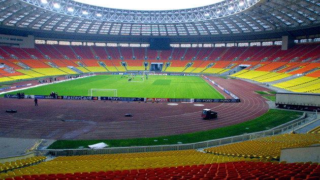 Hier ein Blick ins Innere des Luzhniki-Stadions in Moskau. (Bild: GEPA)