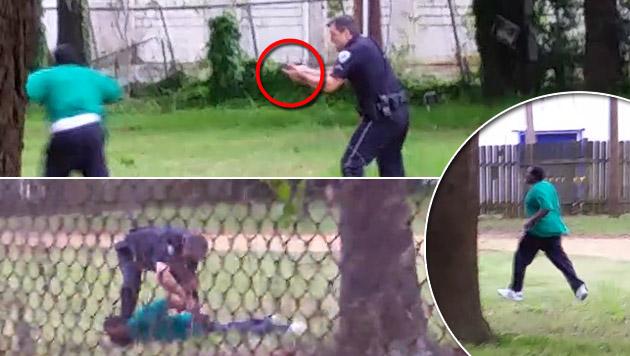 Schwarzen erschossen: Freispruch für US-Polizisten (Bild: AP, Liveleak.com)