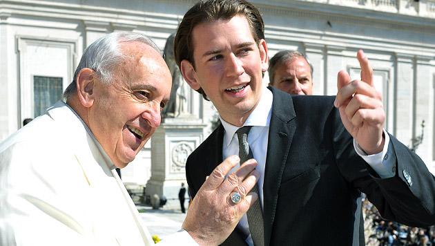 """Christenverfolgung: """"Papst zählt auf Österreich"""" (Bild: APA/AUSSENMINISTERIUM/DRAGAN TATIC)"""