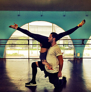 """Rumer Willis beim Training für """"Dancing With The Stars"""" (Bild: Viennareport)"""