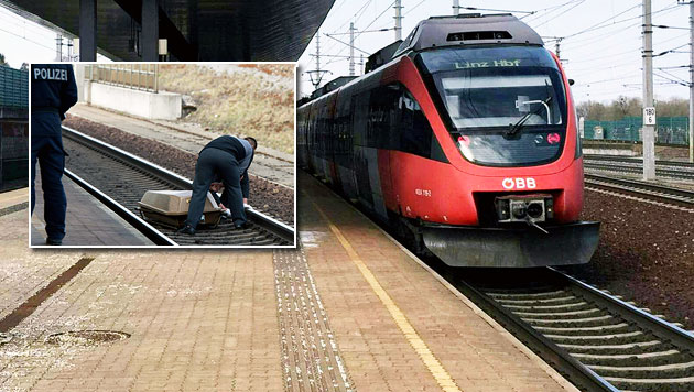 Bahnhof Linz-Ebelsberg: der Unglücksort (Bild: APA/FOTOKERSCHI.AT/WERNER KERSCHBAUMMAYR)