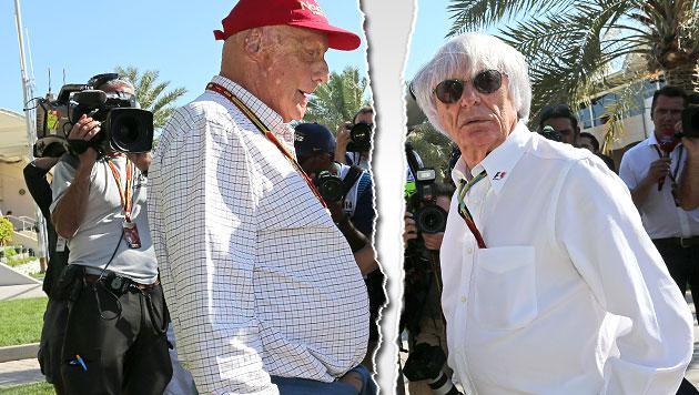 Jetzt geht Niki zu Bernie auf Konfrontationskurs! (Bild: GEPA, krone.at-Grafik)