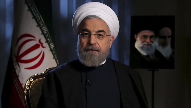 Irans Präsident Hassan Rohani (Bild: AP)