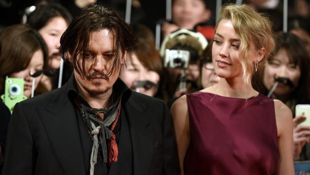 Johnny Depp und Amber Heard (Bild: APA/EPA/FRANCK ROBICHON)