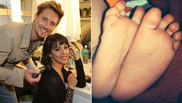 Lukas Perman und Marjan Shaki sind zum ersten Mal Eltern geworden. (Bild: Kristian Bissuti, facebook.com/Marjan.und.Lukas)