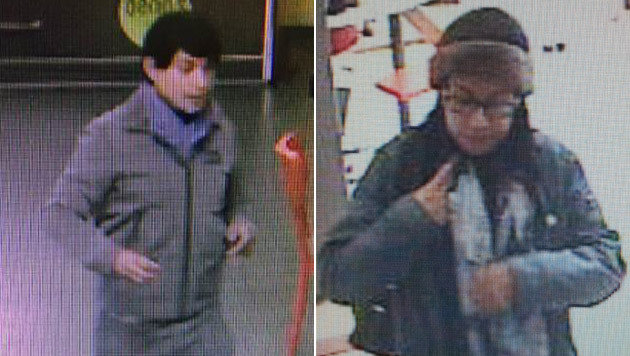 Diese beiden Personen gehören zu den drei Verdächtigen. Die Polizei bittet um Mithilfe. (Bild: SPK Innsbruck)
