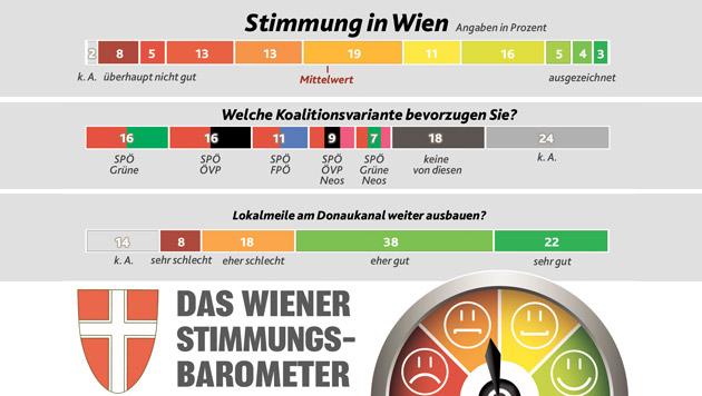 Duell zwischen Grünen und ÖVP um nächste Koalition (Bild: Krone-Grafik)